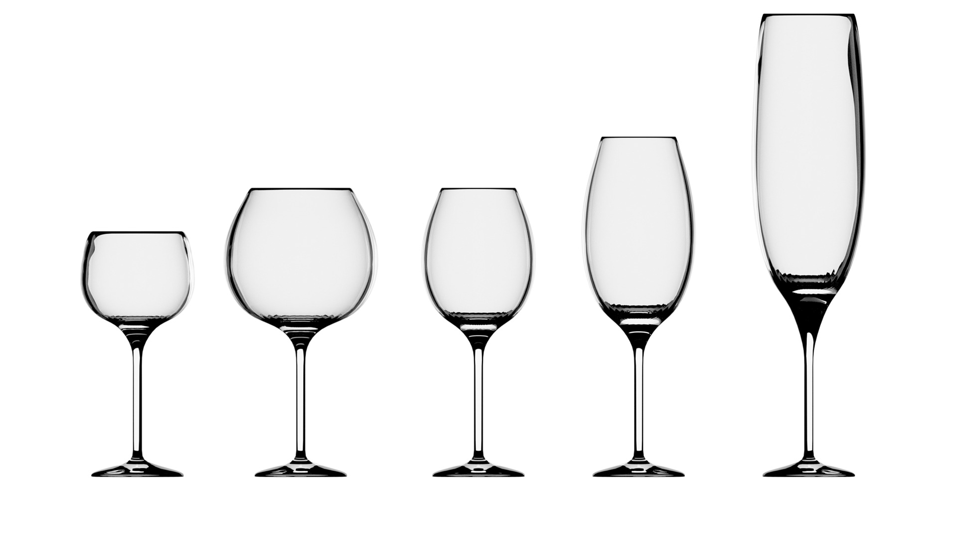 five different wine glass 3351989 1920