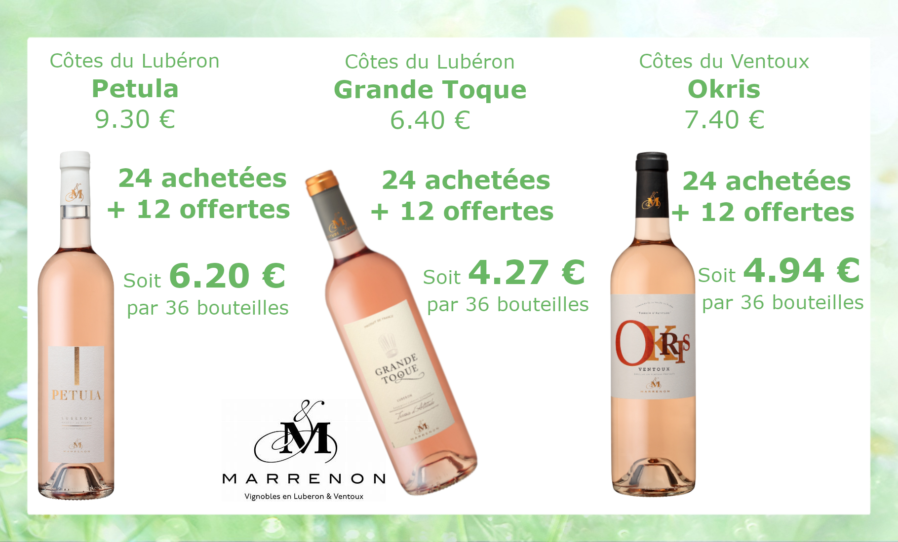 marrenon prix promo12